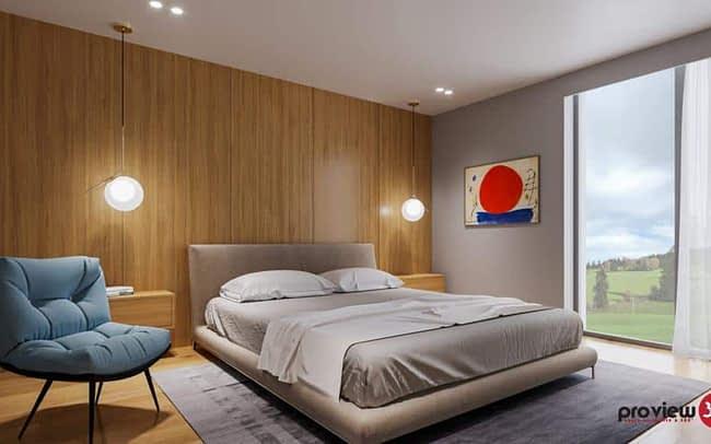 Image 3D villa Chaux-de-Fonds chambre